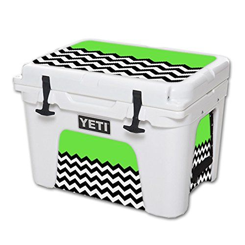MightySkins Protective Vinyl Skin Decal for YETI Tundra 35 qt Cooler wrap cover sticker skins Lime Chevron * Read more reviews of the product by visiting the link on the image.(This is an Amazon affiliate link and I receive a commission for the sales)