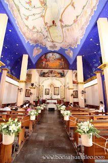 Decoración de la iglesia por Bodas Huatulco