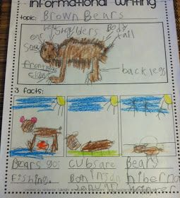 Informational writing graphic organizer: this format might be useful in the science journal of a younger student