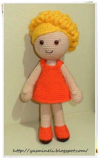 The link from this Turkish blog gets me nowhere, but I want to figure out how to make the curly hair on this doll.