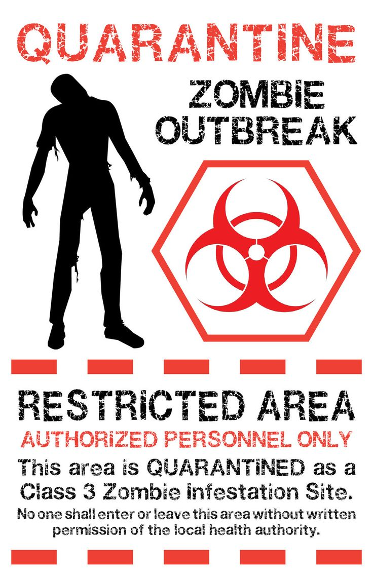 zombie printables | Zombie Quarantine Sign 1 by `Memnalar on deviantART
