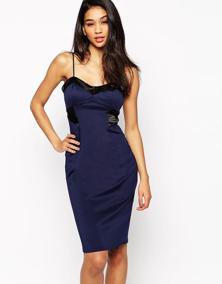 Image 1 ofMichelle Keegan Loves Lipsy Satin Panel Dress