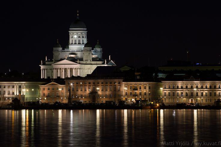 Helsinki Cathedral and skyline at night by Matti Yrjölä on 500px