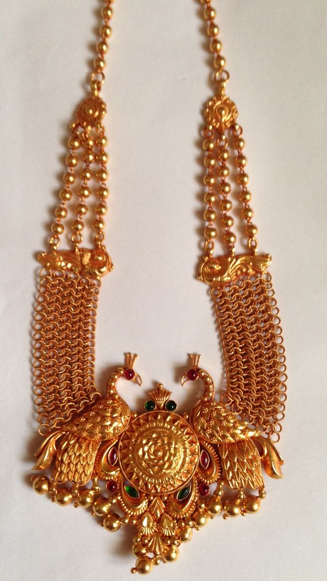 Gold Handmade Antique Pendant Temple Jewellery K T ARTS Kolhapur.