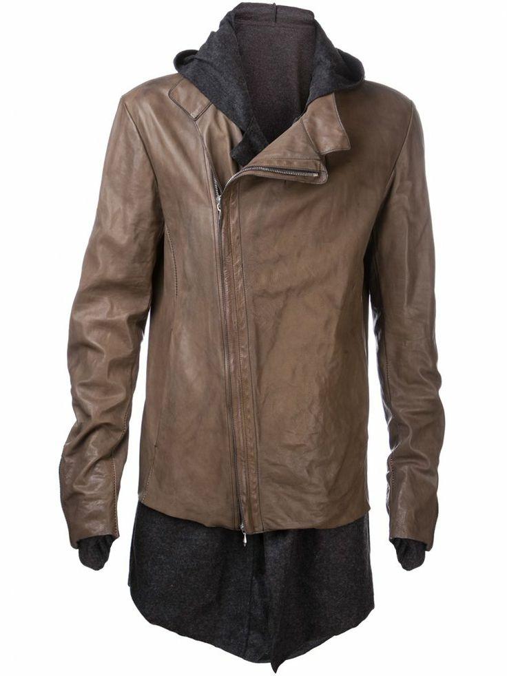 INCARNATION - Leather Extended Lining Jacket - 1721-4437-NK GRAY - H. Lorenzo