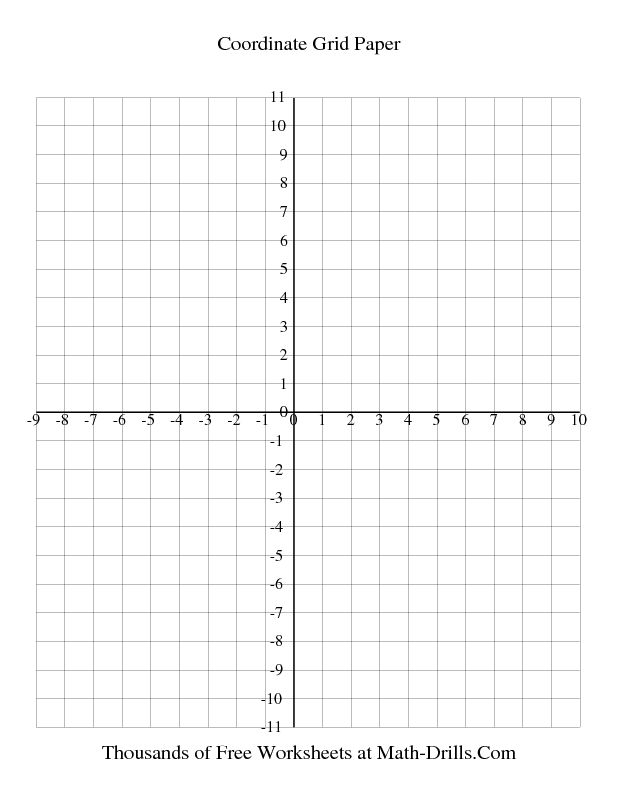 Graph Paper 1 Cm Coordinate Grid Paper Every Line