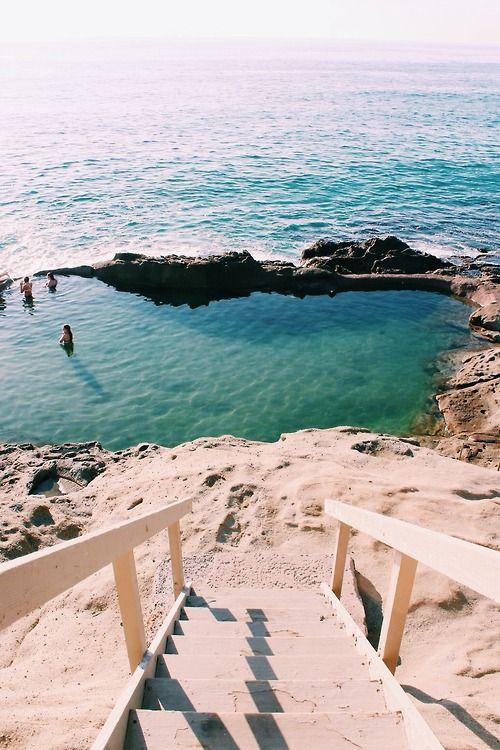 Secret pools Laguna beach California