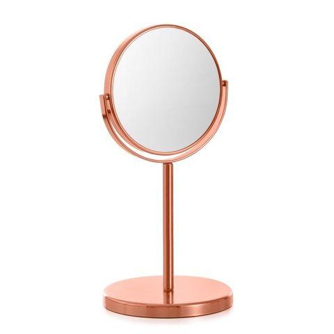 Swivel Beauty Mirror - Copper