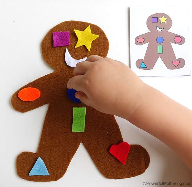 Gingerbread Man Shape Matching Busy Bag. So fun!!