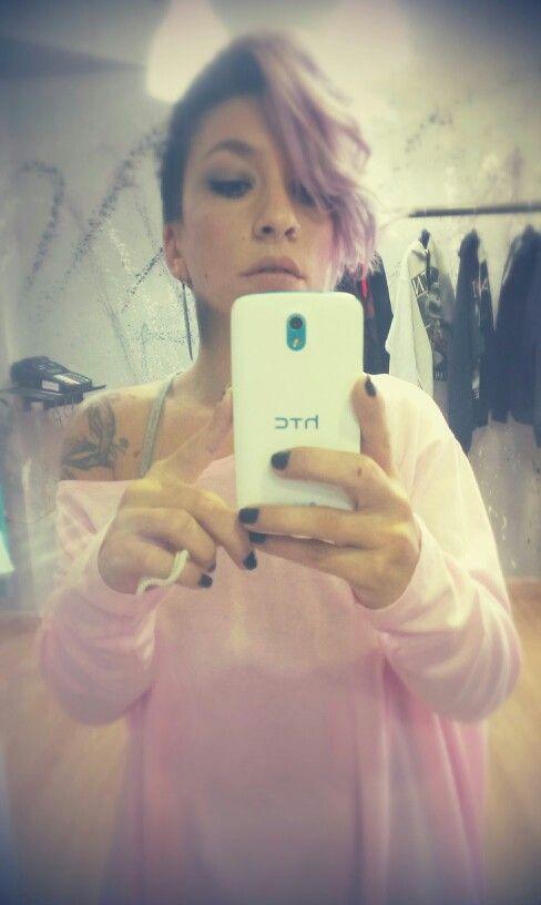 Pink loose blouse
