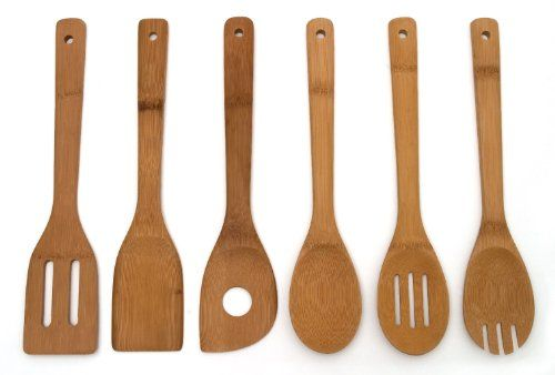 Lipper International 826 Set of 6 Bamboo Kitchen Tools, in Mesh Bag Lipper International http://www.amazon.com/dp/B0037NZ5ES/ref=cm_sw_r_pi_dp_ROi9vb16F0GB6