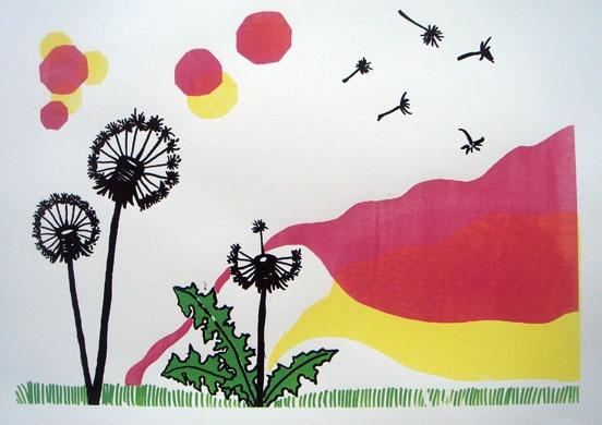 """Dandelions"" - Graphic print by Anna Olsson"