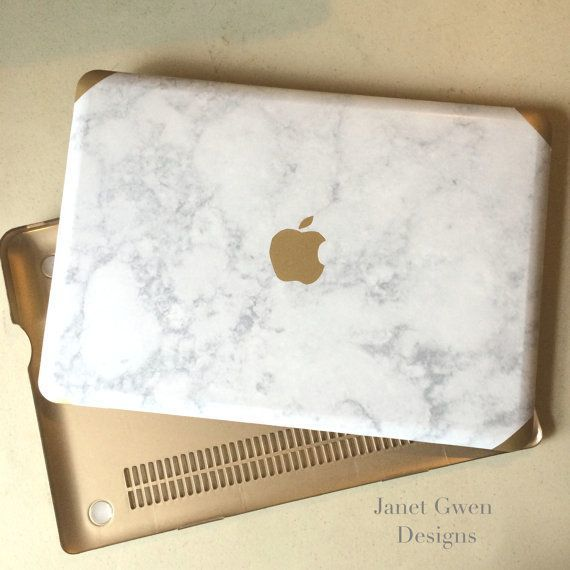 Marble and Gold Mac Book Air 11, 13, and Mac Book Pro 13, 15, New 12 | @giftryapp