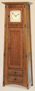 Amish made grandfather clock. What beautiful craftsmanship.