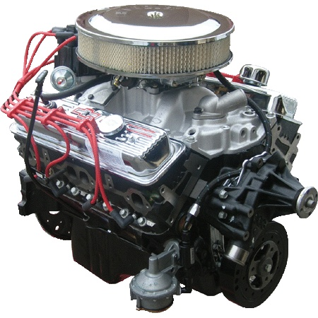 PACE Performance - GMP-12496968-1 - Fully Assembled GM 350CID 330 HP Crate Engine with Chrome Finish