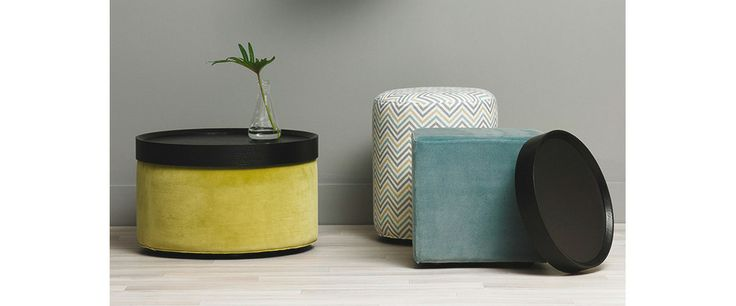 King Furniture - Bongo ottoman round & oval footstool | This is a great idea- an ottoman and coffee table in one!