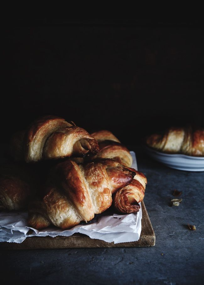 tartine croissants is from the tartine cookbook; it produces croissants that are buttery, flaky, with layers