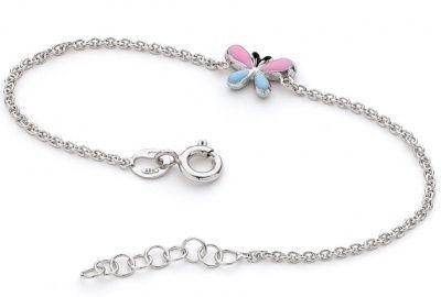 Piccolo Bracelet - PINK BLUE BUTTERFLY KISS - Sterling Silver