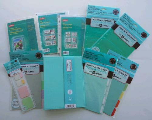 Martha Stewart Blue Ring Binder 55 X 85 Half Size Lot Divider