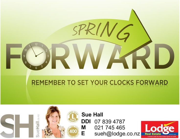 A sure sign that summer isn't far away ... Remember, before you go to bed on Saturday night, put your clocks FORWARD ONE HOUR