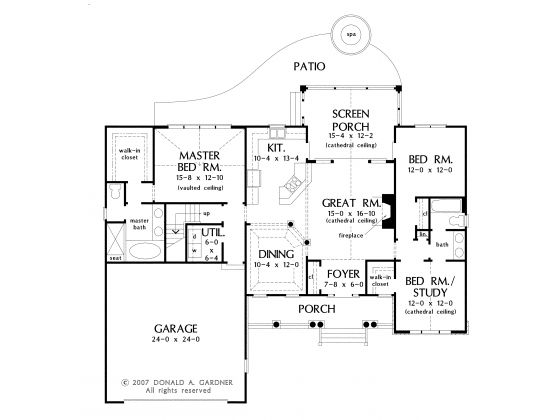Ranch house plan with 1668 square feet and 3 bedrooms from Garage square foot cost