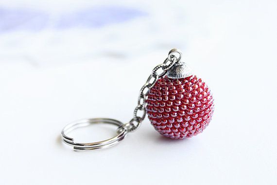 Red Keychain. Red Party Favour Repurposed by PetalsDesignAU