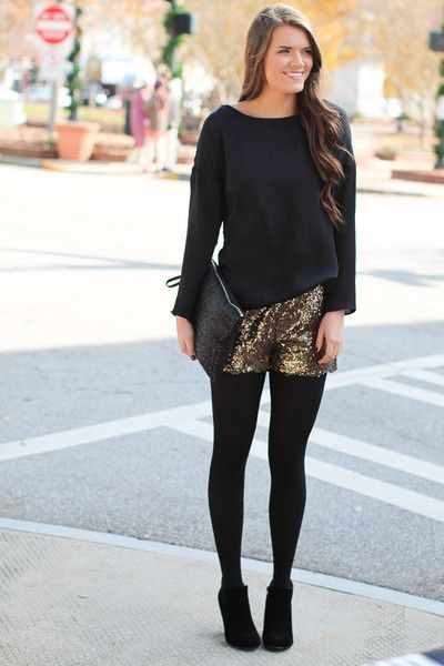 It's never to early to plan out your New Years Ever outfit, and these gold sequined shorts are a great way to complete your look! Times Square Gold Shorts