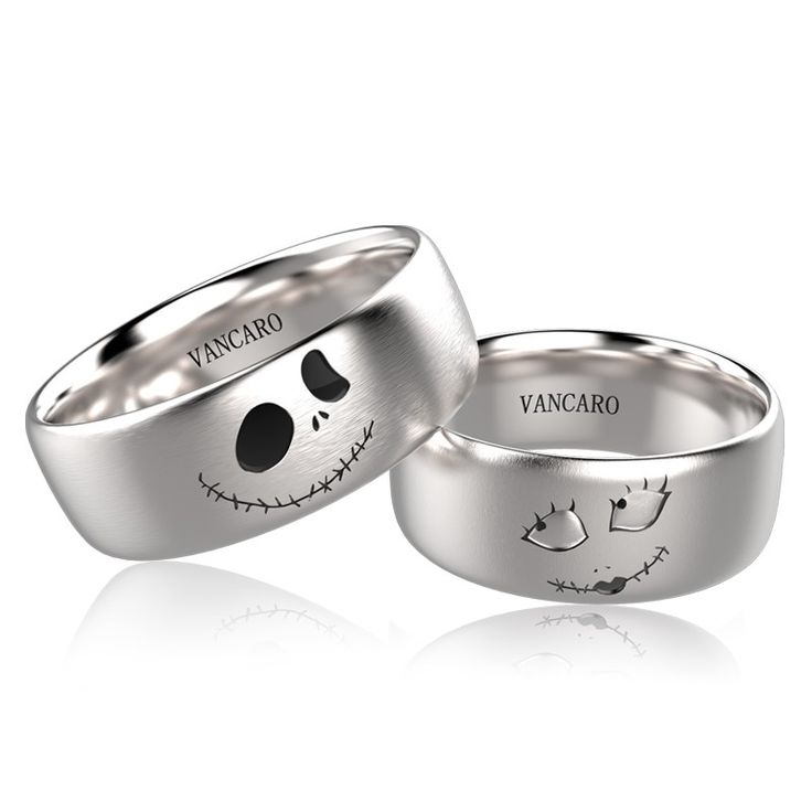 IF I ever got married again. IF. Jack And Sally Rings In Titanium For Couples