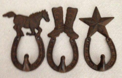 Cast Iron Horse Cowboy Hat Western Star Wall Hooks RS,http://www.amazon.com/dp/B00E0JSAFY/ref=cm_sw_r_pi_dp_M7LFtb0QFFCTPR6K