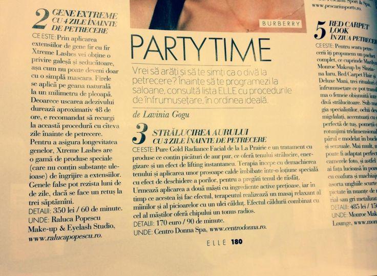 Articol in revista ELLE Decembrie 2013