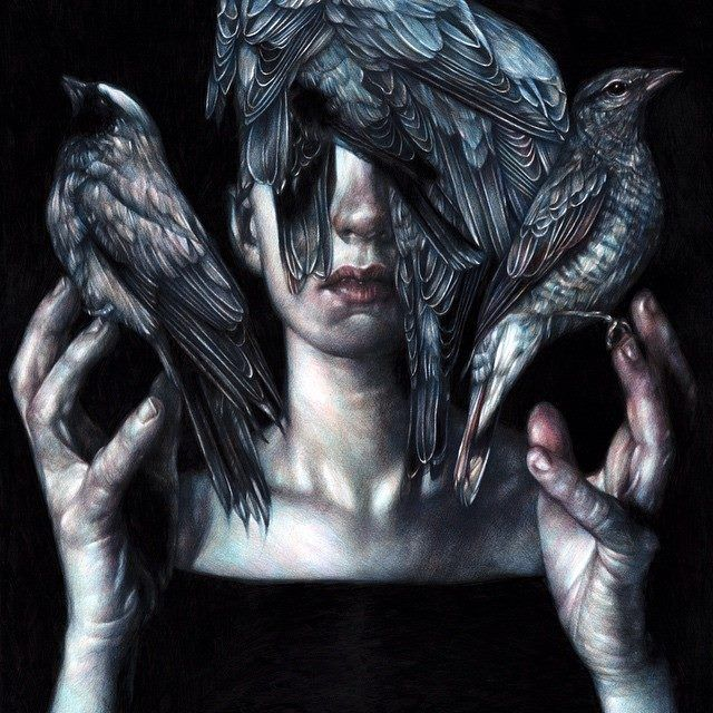 Amazing pencil drawing, 'The Tamer' by #beautifulbizarre Issue 001 featured artist Marco Mazzoni