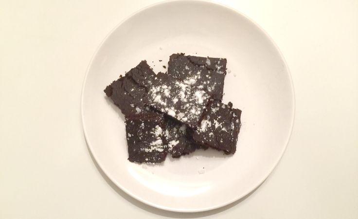 Sjokoladebrownies med bønner