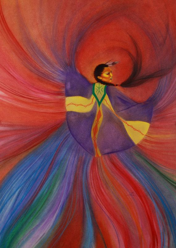 Shawl Dancer 9x13 by RiaFineArts on Etsy, $16.10 (Love this artist. Beautiful artwork!)
