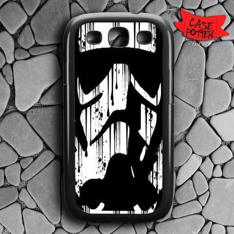 Black White Storm Trooper Samsung Galaxy S3 Black Case