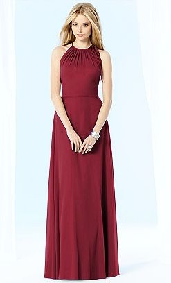 Bridesmaid gown #aftersix #red