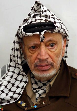 Yasser Arafat (1929-2004) 1st  President of the Palestinian National Authority. Despite the degrading economic conditions of the Palestinians, Arafat secretly amassed a personal wealth estimated to be USD $1.3 billion by 2002. Majority of the Palestinian people viewed him as a heroic freedom fighter and martyr, while many Israelis have described him as a terrorist.