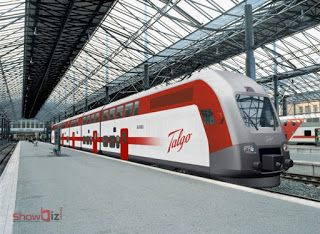 Showbiz Heaven: Spanish talgo train with high speed begins with tr...