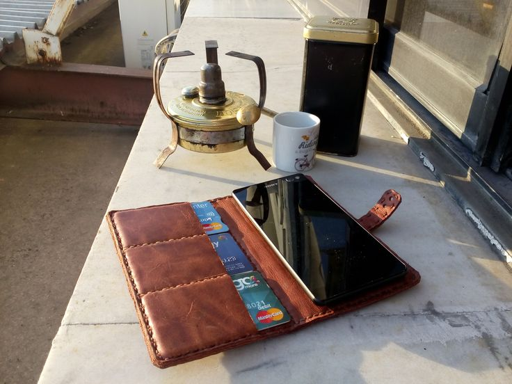 handmade leather mobile case by leather crafts anthi