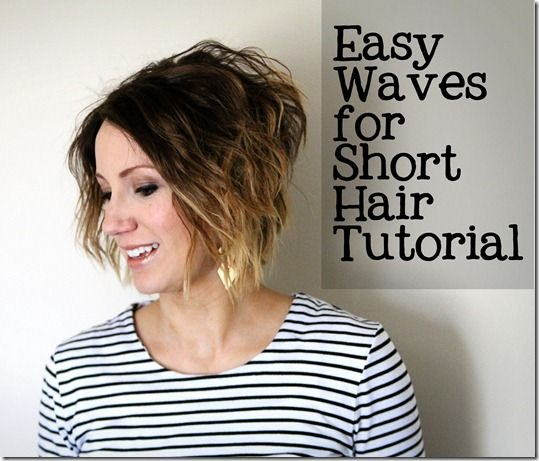 Easy Waves for Short Hair Tutorial from ONE little MOMMA    or maybe even a this kind of short... or would you die??