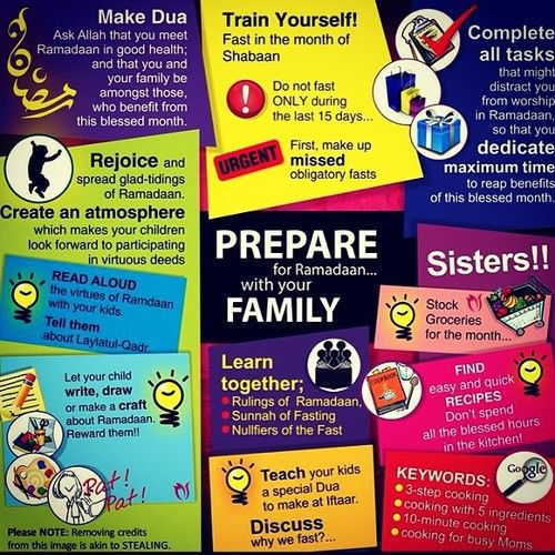 Prepare for Ramadan with your family :)