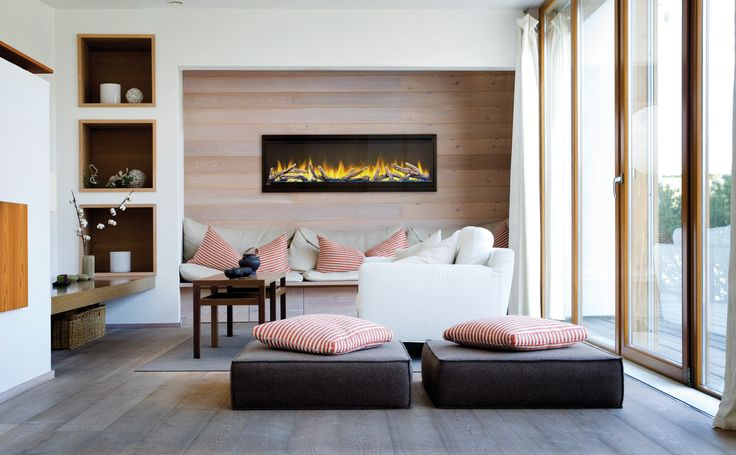 Napoleon's Alluravision™ Series linear electric fireplaces is available in three sizes, five models 42, 50 & 60