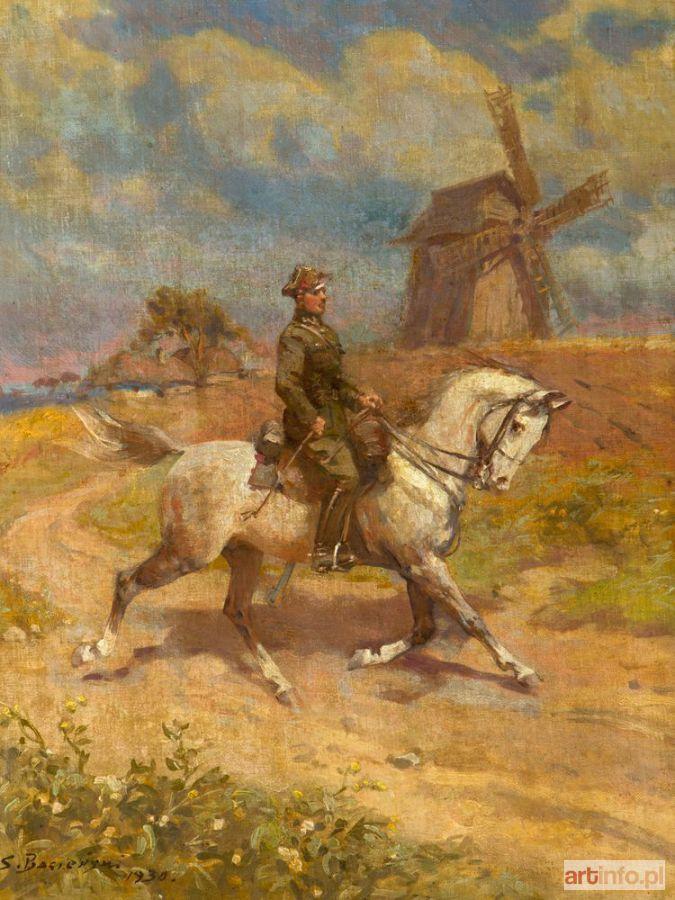 Stanisław BAGIEŃSKI ● UŁAN NA SIWKU ● Aukcja ● Artinfo.pl