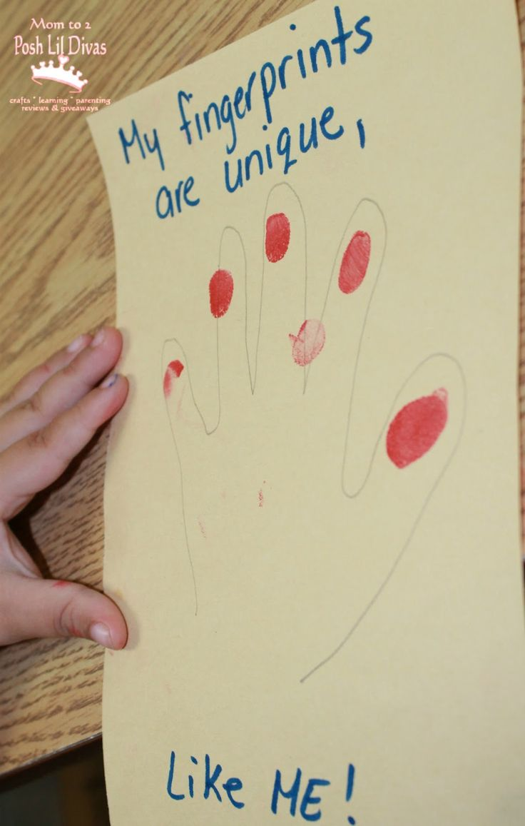 """Fingerprint Exploration for """"Marvelous Me"""" / All About Me Theme (from Mom to 2 Posh Lil' Divas)"""