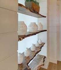 live edge wood shelves.  I would love these in our house.