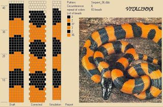 """VITALINNA: Mon """"serpentarium"""" 3 (motifs pour les colliers au ..."""