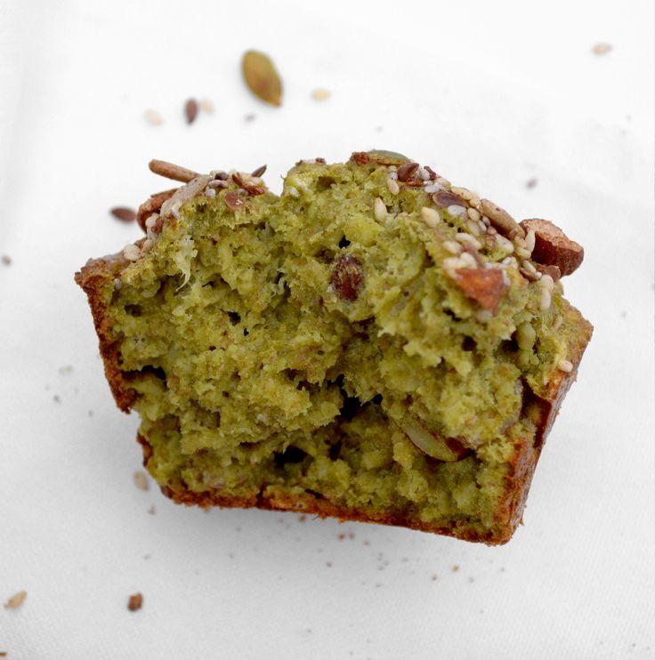breakfast matcha muffin