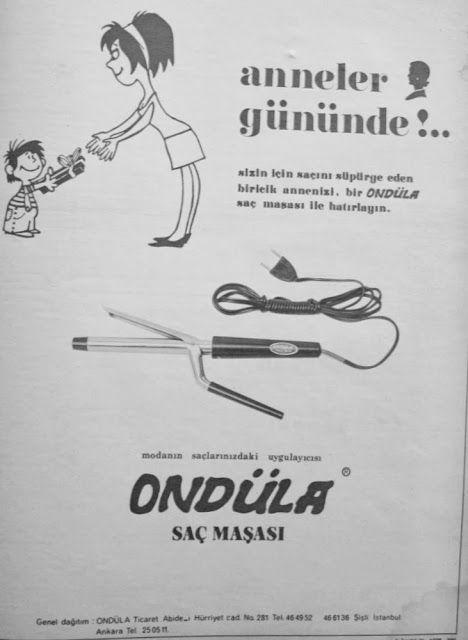 OĞUZ TOPOĞLU : ondüla saç maşası 1975 nostaljik eski reklamlar