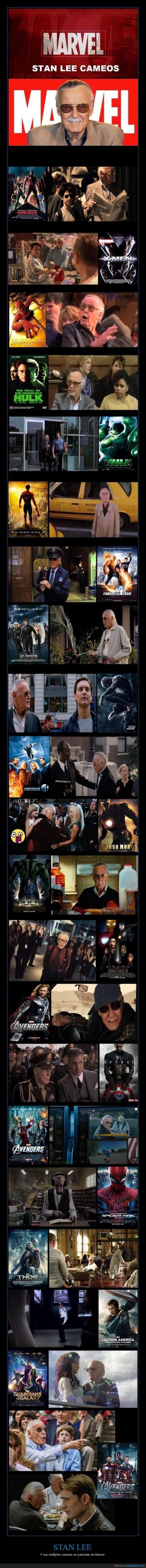 STAN LEE - Y sus múltiples cameos en películas de Marvel