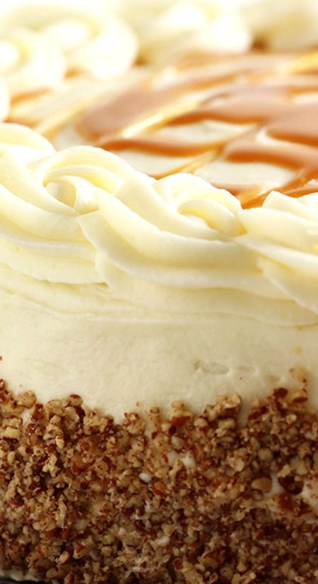 Kentucky Bourbon Butter Cake with Cream Cheese Frosting and Salted Caramel Sauce Recipe