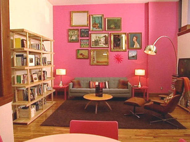 Pink Accent Wall 35 best colored wall - pink images on pinterest | pink walls, home